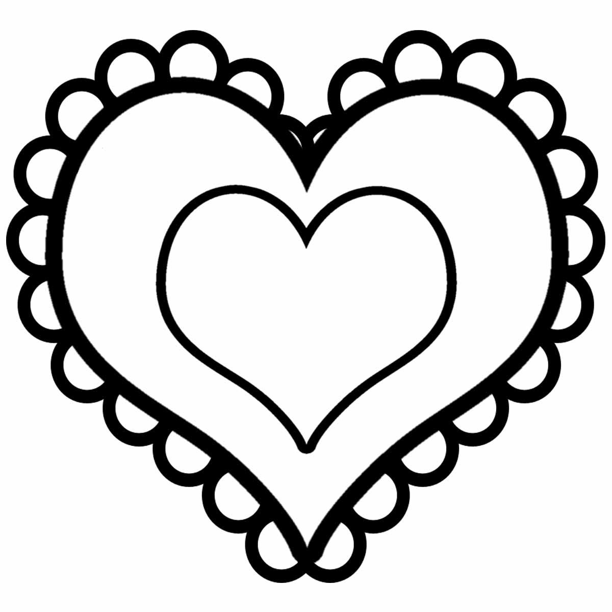 50 buc tranh to mau hinh trai tim dep nhat danh tang cho be 21 - 50+ bức tranh tô màu hình trái tim đẹp nhất dành tặng cho bé