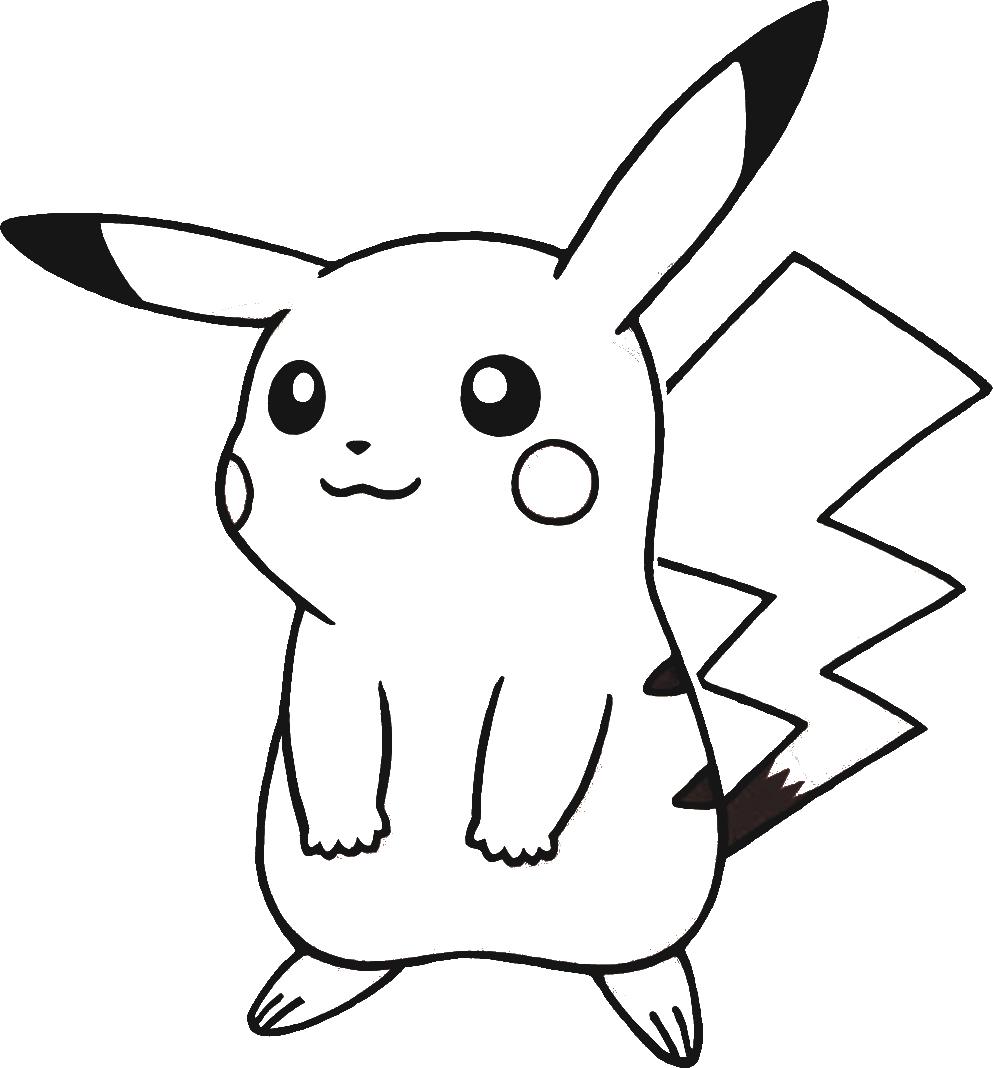 50 buc tranh to mau pikachu dep 1 - 50+ bức tranh tô màu Pikachu đẹp