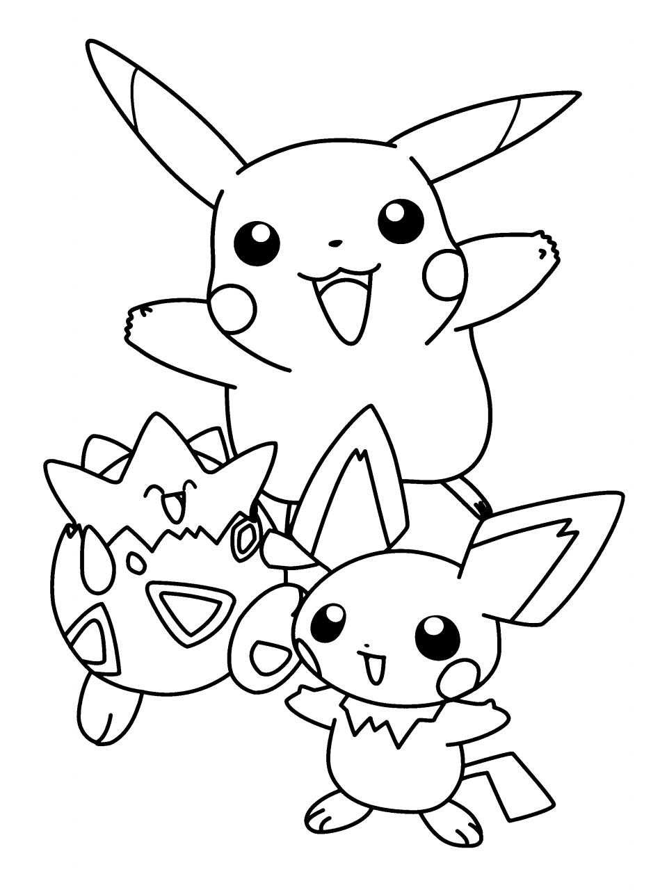 50 buc tranh to mau pikachu dep 10 - 50+ bức tranh tô màu Pikachu đẹp