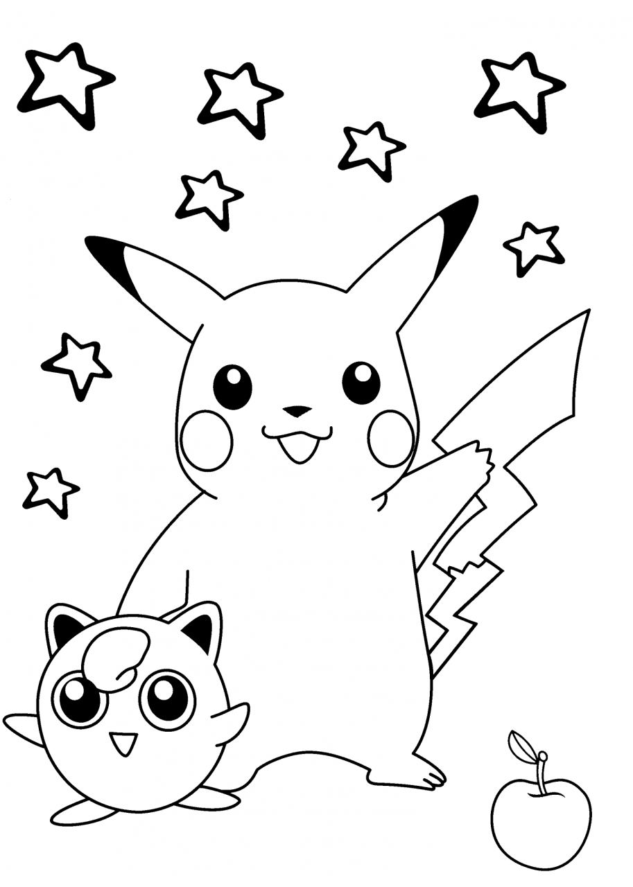 50 buc tranh to mau pikachu dep 11 - 50+ bức tranh tô màu Pikachu đẹp