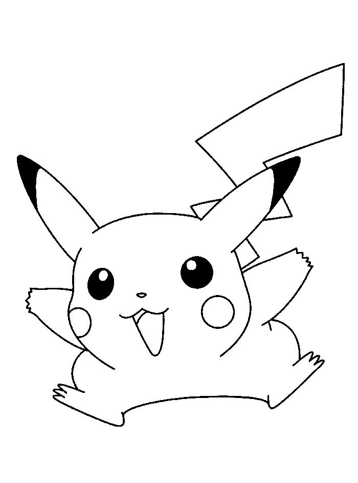 50 buc tranh to mau pikachu dep 12 - 50+ bức tranh tô màu Pikachu đẹp