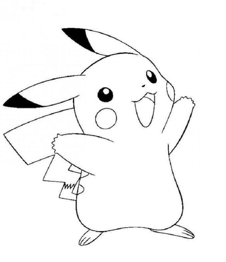 50 buc tranh to mau pikachu dep 13 - 50+ bức tranh tô màu Pikachu đẹp