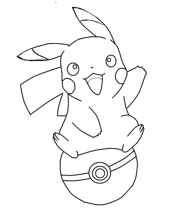 50 buc tranh to mau pikachu dep 16 - 50+ bức tranh tô màu Pikachu đẹp