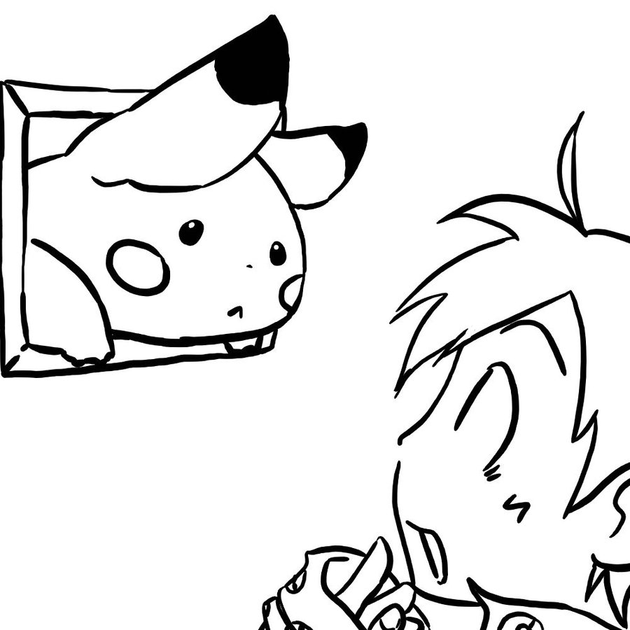 50 buc tranh to mau pikachu dep 17 - 50+ bức tranh tô màu Pikachu đẹp