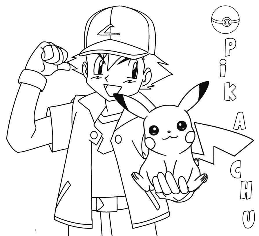 50 buc tranh to mau pikachu dep 20 - 50+ bức tranh tô màu Pikachu đẹp