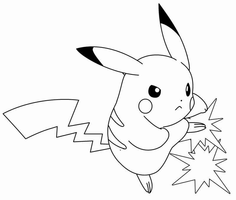 50 buc tranh to mau pikachu dep 26 - 50+ bức tranh tô màu Pikachu đẹp