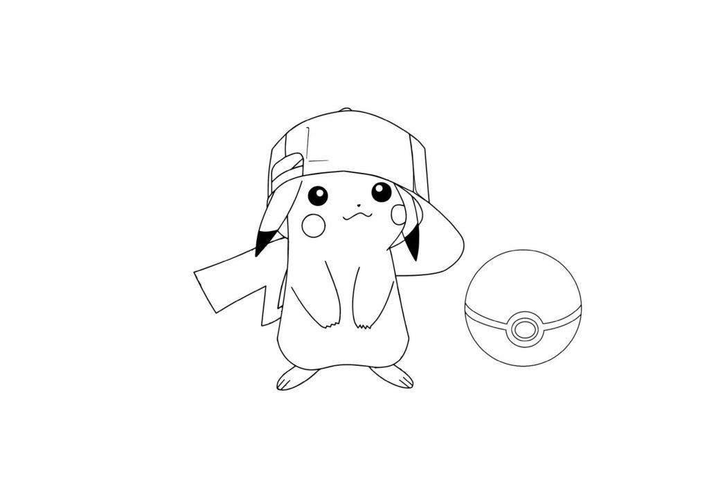 50 buc tranh to mau pikachu dep 3 - 50+ bức tranh tô màu Pikachu đẹp