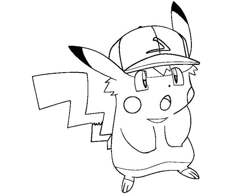 50 buc tranh to mau pikachu dep 4 - 50+ bức tranh tô màu Pikachu đẹp