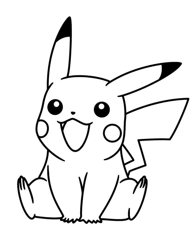 50 buc tranh to mau pikachu dep 7 - 50+ bức tranh tô màu Pikachu đẹp
