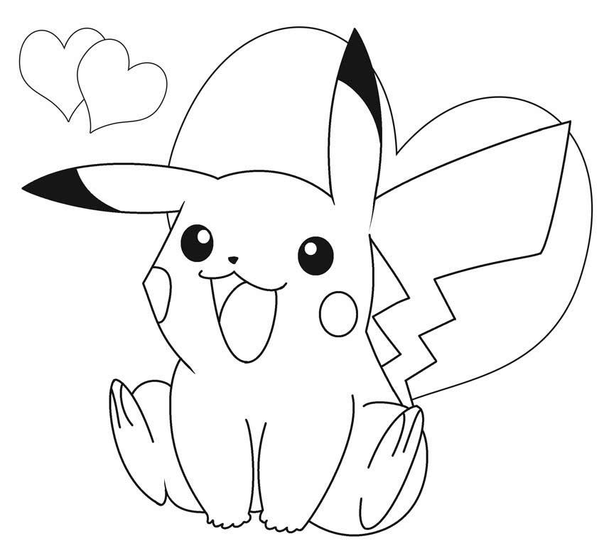 50 buc tranh to mau pikachu dep 8 - 50+ bức tranh tô màu Pikachu đẹp
