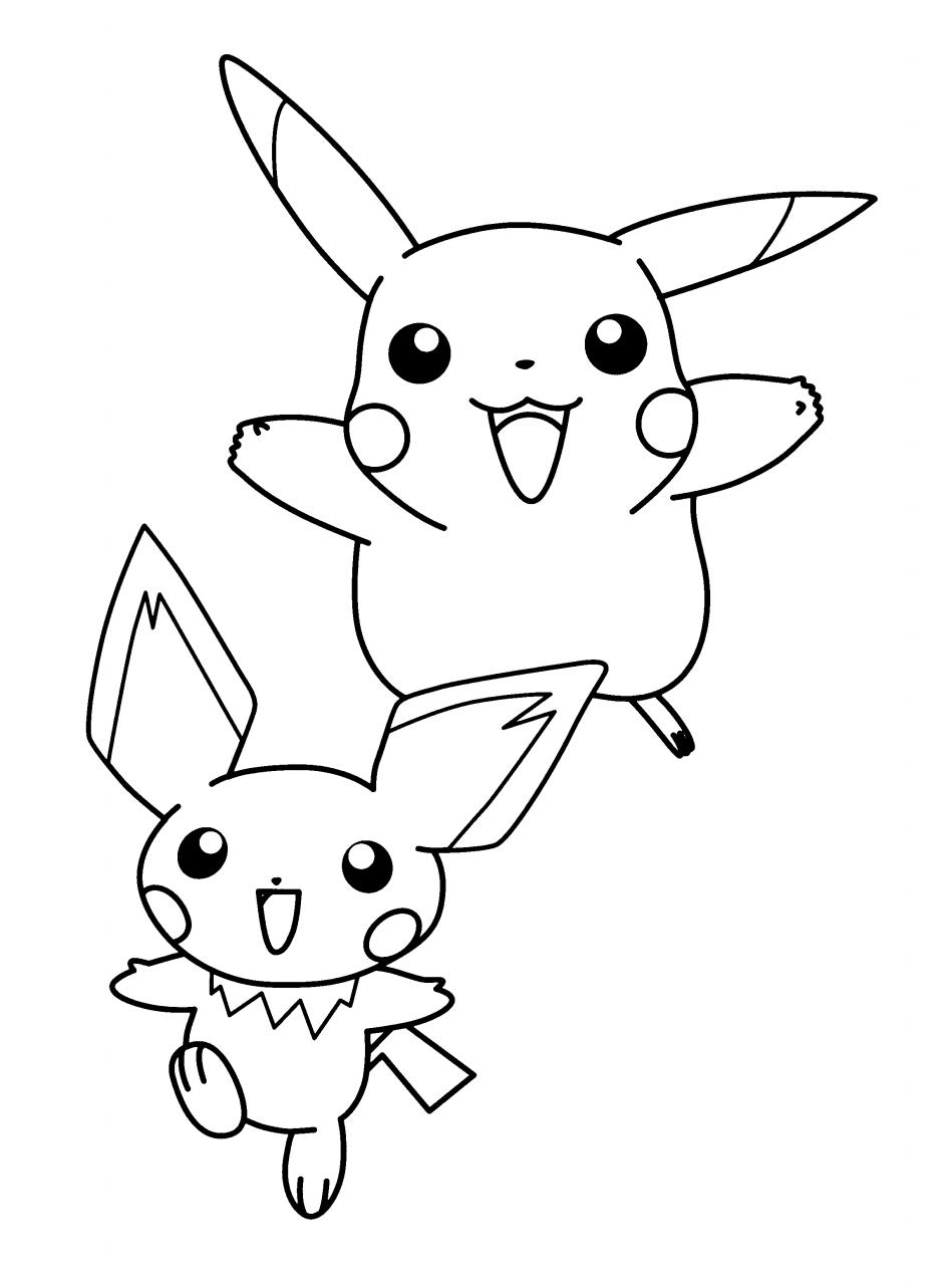 50 buc tranh to mau pikachu dep 9 - 50+ bức tranh tô màu Pikachu đẹp