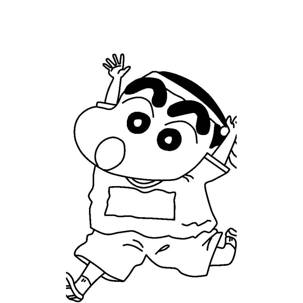 Tổng hợp các bức tranh tô màu Shin cậu bé bút chì đẹp nhất dành tặng cho bé