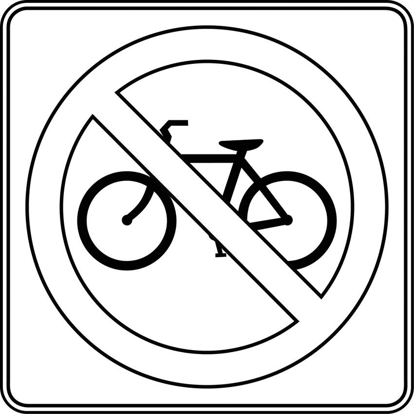 biển báo cấm xe đạp