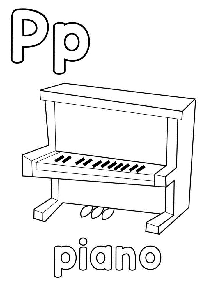 chữ p cho piano