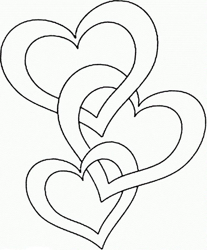 ba trái tim liền nhau
