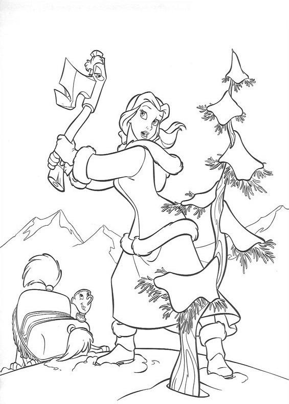 belle chặt cây