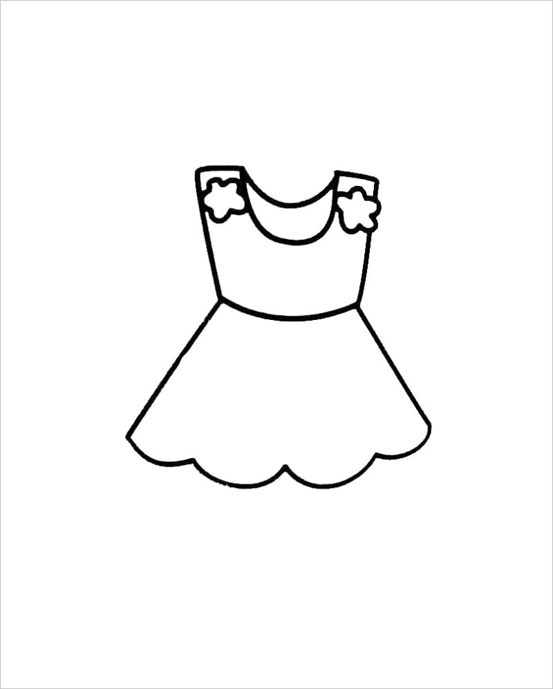 Tổng hợp các bức tranh tô màu quần áo cho bé đẹp nhất